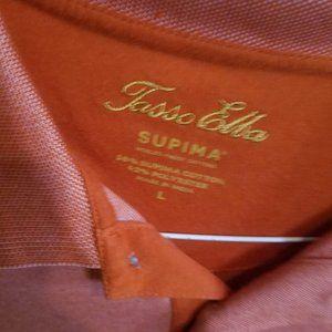 Tasso Elba Orange Polo Shirt